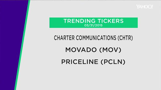 Charter eyes new high on deal; Movado's big Q4 profits; Priceline upgraded
