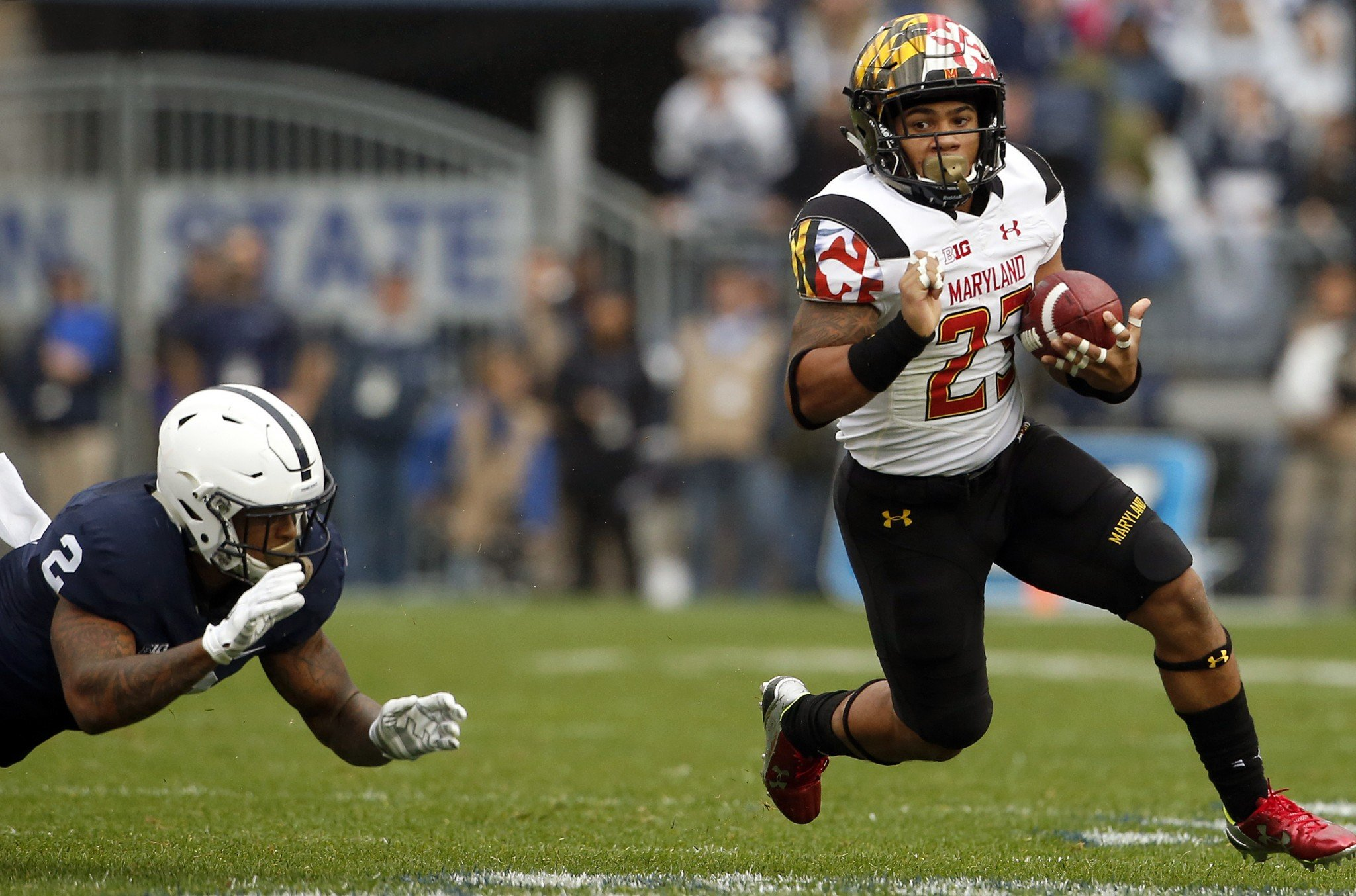 Lorenzo Harrison leads Maryland in rushing touchdowns. (AP Photo/Chris Knight)