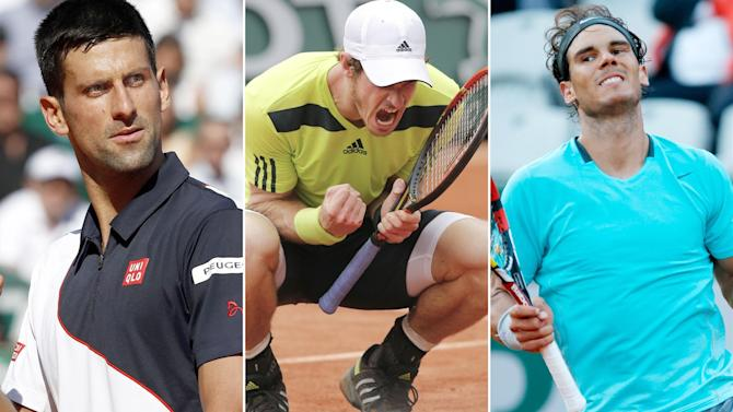 French Open - Thursday's order of play: Nadal, Djokovic and Murray top bill