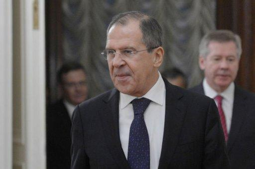 Russia's Foreign Minister Sergei Lavrov speaks in Moscow on December 28, 2012, as he meets his visiting Egypt counterpart Mohamed Amr on the Syrian crisis. Russia, the only world power with close ties to the Syrian regime, urged President Bashar al-Assad on Friday to talk to the opposition as Moscow itself put out feelers to the rebels.