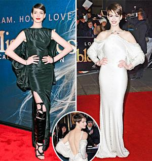 Anne Hathaway's Les Miserables Red Carpet Style: Which Look Is Best?