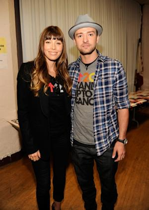 Jessica Biel and Justin Timberlake attend Stand Up To Cancer at The Shrine Auditorium in Los Angeles on September 7, 2012 -- Getty Premium