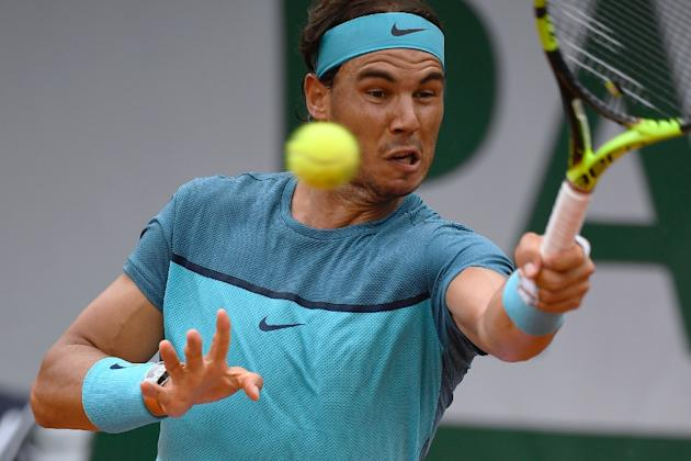 Spain's Rafael Nadal returns the ball to Argentina's Facundo Bagnis during their men's second round match at the French Open in Paris, on May 26, 2016