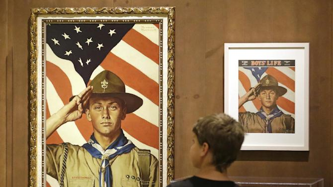 Mormon Scouts Norman Rockwell