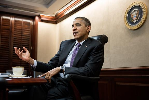 President Barack Obama holds a meeting in the Situation Room of the White House, Dec. 7, 2012.