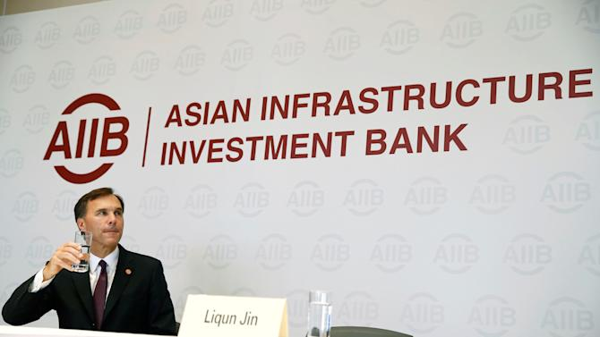Canada's Finance Minister Bill Morneau attends a news conference at the headquarters of the Asian Infrastructure Investment Bank (AIIB) in Beijing