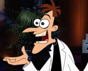 First Look Photo: Will the Shark Tank Bite at Evil Dr. Doofenshmirtz's Latest '-Inator'?