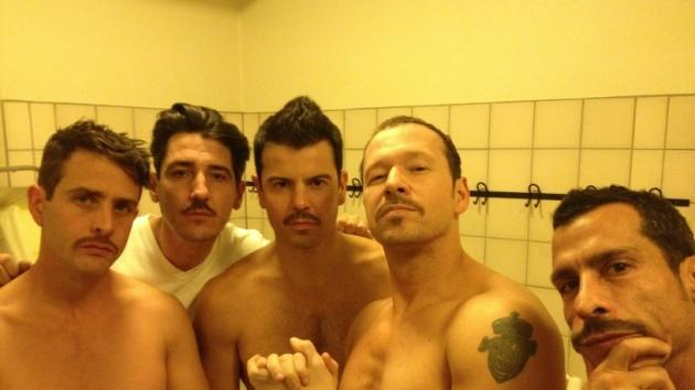 Donnie Wahlberg and his fellow New Kids on the Block members sport moustaches for a fun Twitter photo -- Donnie Wahlberg/Twitter