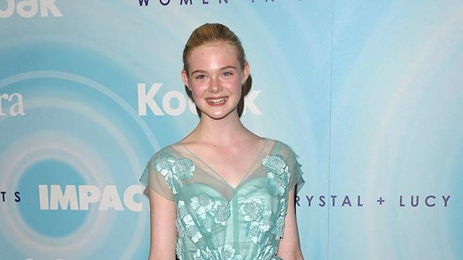 Elle Fanning Crystal Lucy Awards