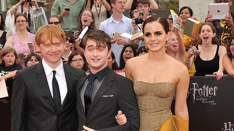 Harry Potter and the Deathly Hallows NY Premiere 2011 Daniel Radcliffe Rupert Grint Emma Watson