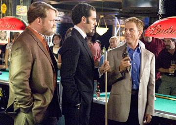 Andy Richter , Sacha Baron Cohen and Greg Germann in Columbia Pictures' Talladega Nights: The Ballad of Ricky Bobby