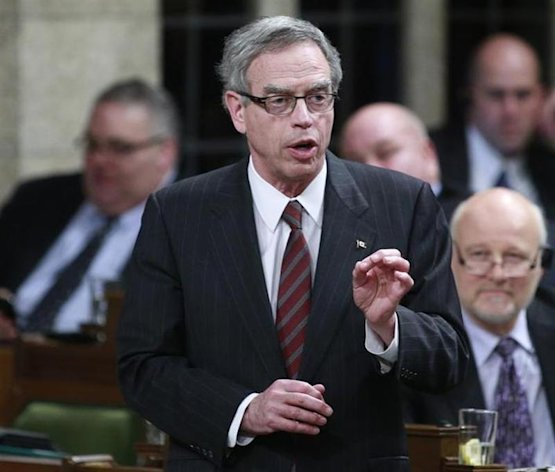 Minister of Natural Resources Joe Oliver speaks during Question Period on Parliament Hill in Ottawa April 17, 2013. REUTERS/Blair Gable