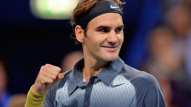 "Tennis - Federer beats ""Baby Federer"" to keep up Tour Finals bid"