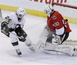 Sens hand Penguins 1st regulation loss in 15 games