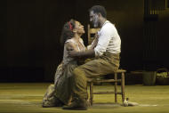 "FILE - In this undated file photo provided by Jeffrey Richards Associates, Audra McDonald, left, and Norm Lewis perform in a scene from ""The Gershwins' Porgy and Bess"" at the Richard Rogers Theatre in New York. Producers of the Broadway show, winner of the 2012 Tony Award for Best Revival of a Musical, announced Wednesday, July 18, 2012 that the production will have its final performance on Sept. 23, 2012. (AP Photo/Jeffrey Richards Associates, Michael J. Lutch, File)"