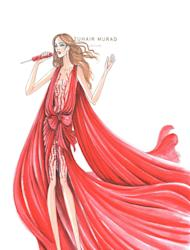 Remember when Grazia Daily announced that Beirut-based fashion designer, Zuhair Murad, would be designing not one, not two, but ALL six of Jennifer Lopez's stage outfits for her upcoming World Tour? We predicted lots of glitter, metallic tones and plunging necklines and now, we can confirm that J-Lo's tour – which kicks off this Friday in South America – will be filled with feathered skirts, feathered hats, a jumpsuit, a blinging cape, a bodysuit and a few dresses