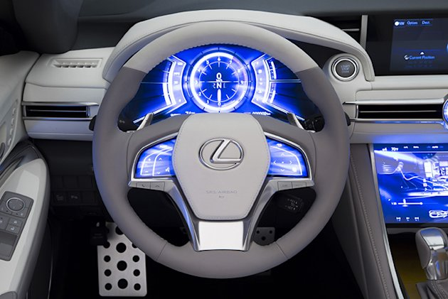 Lexus LF C2 dashboard photo