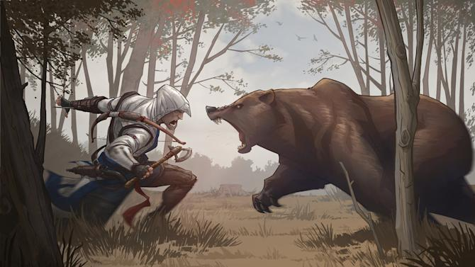 Assassin's Creed 3 Bear Attack