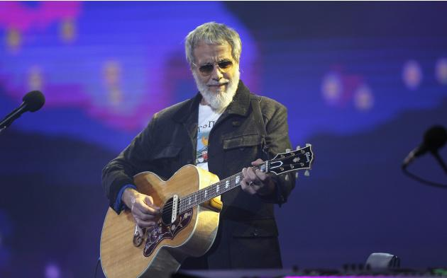 Musician Yusuf Islam performs during the International Song Festival in Vina del Mar city