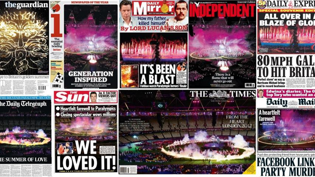 Papers hail 'the greatest party in living memory'