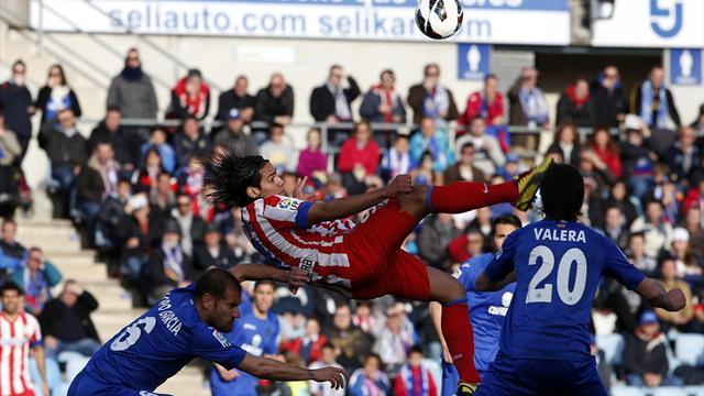 Liga - Getafe hold nine-man Atletico in Madrid derby