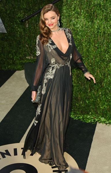 Worst dressed: Miranda Kerr Victoria's Secret model Valentino AW12 Couture Vanity Fair Party Image © Rex