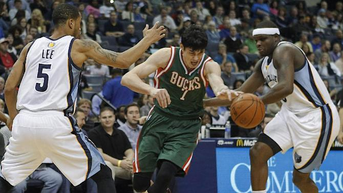 Calathes scores 22 as Grizzlies beat Bucks 99-90