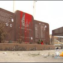 Suspects In Police Memorial Vandalism Get Plenty Of Support At Court Hearing