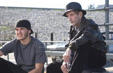 Emile Hirsch and Harry Dean Stanton in Universal Pictures' Alpha Dog