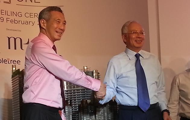 Singapore and Malaysia unveil Marina One project. (Yahoo! Photo)