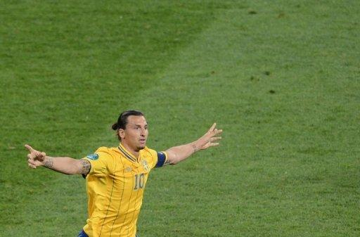 Swedish forward Zlatan Ibrahimovic