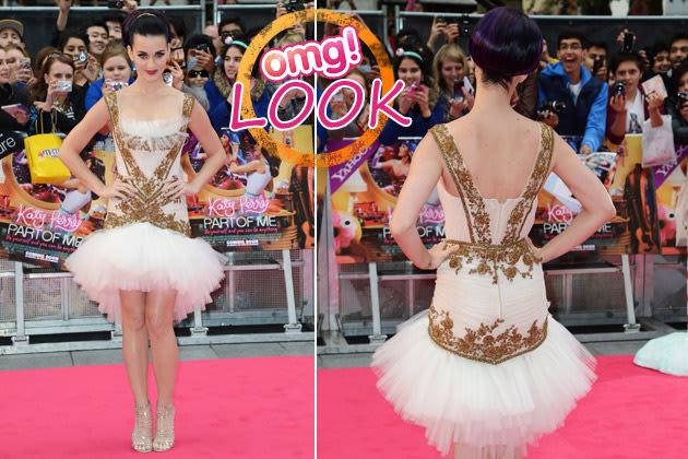 Katy Perry: Sie tänzelte als Glamour-Ballerina durch London (Bilder: Getty Images)