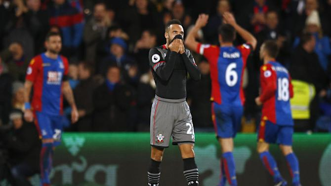 Southampton's Nathan Redmond looks dejected after they concede they third goal