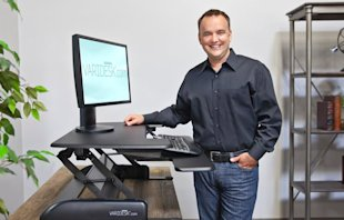 Jason McCann at his Varidesk