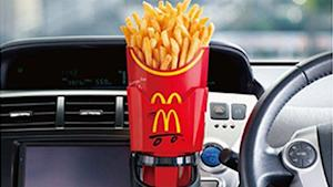 French Fry Bucket Lets You Eat and Drive