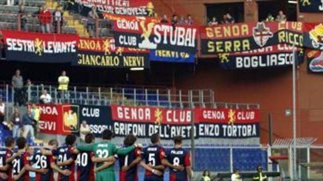 Serie A - Just one Pescara fan at Genoa