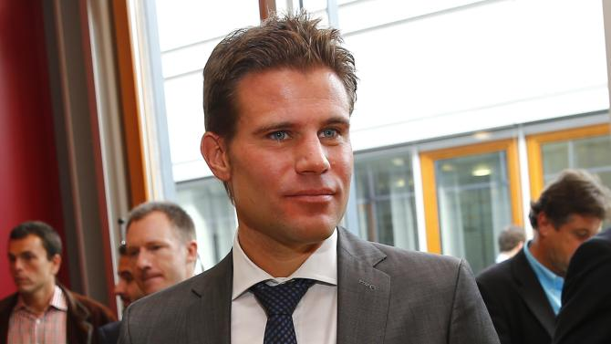 Bundesliga referee Felix Brych waits for hearing at DFB sports court in Frankfurt