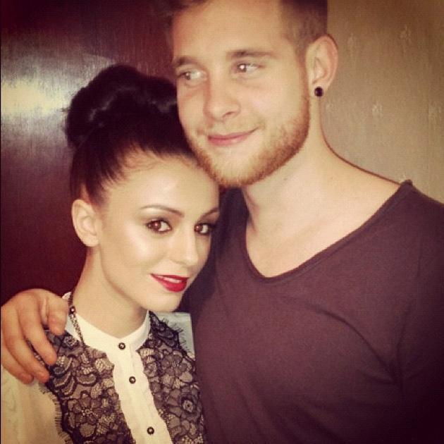 Celebrity Twitpics: Cher Lloyd tweeted this photo of herself with her fiancé Craig cuddling up over the festive break. Naww. Copyright [Cher Lloyd]
