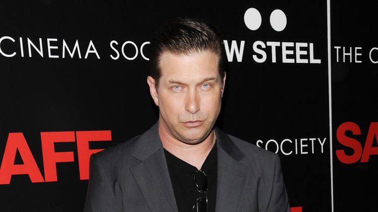 "FILE - This April 16, 2012 file photo shows actor Stephen Baldwin attending the premiere of ""Safe"" hosted by Lionsgate, The Cinema Society and TW Steel at Chelsea Cinemas in New York. Baldwin was in a Manhattan court Monday to plead guilty to unlicensed driving. It's a traffic infraction, not a crime. He'll have to pay a $75 fine.  (AP Photo/Evan Agostini, file)"