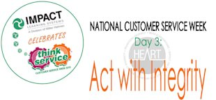 National Customer Service Week: The HEART Model, Principle #3 image ncsw day31