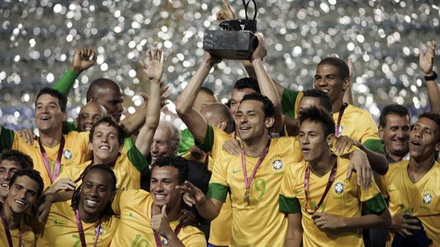 World Football - Argentina win friendly but Brazil take trophy