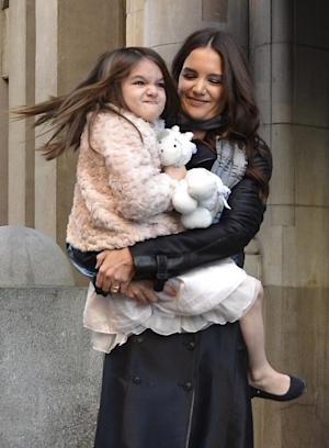 Suri Cruise and Katie Holmes step out in NYC on November 10, 2011  -- FilmMagic