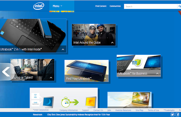 Why Intel Gets Content Marketing image intel home page