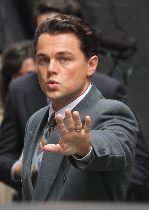 Leonardo DiCaprio en el set
