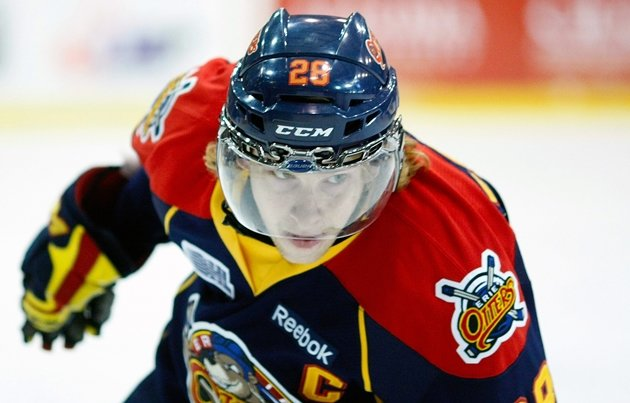 Erie Otters' captain Connor Brown took over the OHL scoring lead with a five-point night in Friday's 6-3 win over the Sudbury Wolves. (CP)