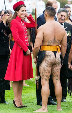 Kate Middleton, Prince William Receive Traditional Maori Welcome in New Zealand: Pictures