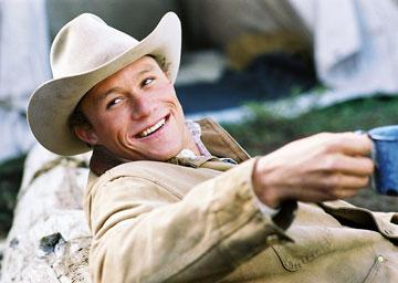 Heath Ledger in Focus Features' Brokeback Mountain