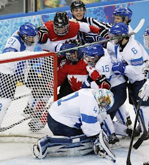 Canada beats Finland 3-0 in Olympic women's hockey