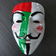 The Vendetta masks, which have been worn by demonstrators throughout the Arab uprisings, have been put on sale emblazoned with the colours of the UAE flag and the number 41 – a reference to the 41st National Day which takes place on December 2.