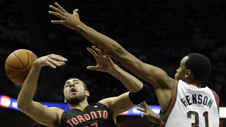 Raptors spoil Bucks' home opener with 97-90 win